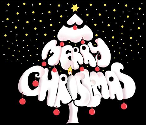 Merry_Christmas_wall_tree fabric by alfabesi on Spoonflower - custom fabric