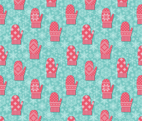 Mittens pattern fabric by lenivec on Spoonflower - custom fabric