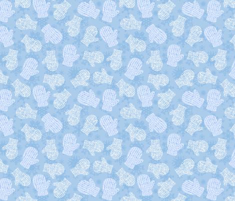 knit mittens fabric by karinka on Spoonflower - custom fabric