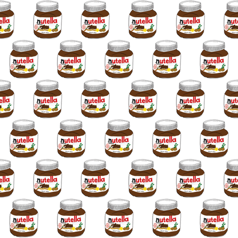 Nutella Kawaii Chocolate Yum fabric by kathrynrose on Spoonflower - custom fabric