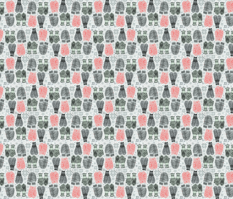 Norwegian Mittens fabric by susiprint on Spoonflower - custom fabric