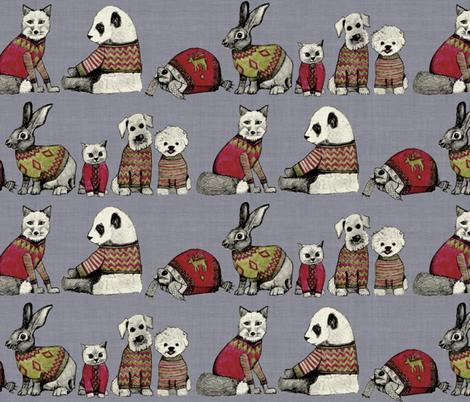 vintage chums fabric by scrummy on Spoonflower - custom fabric