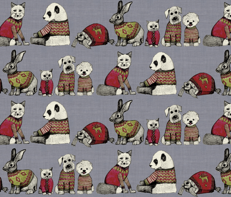 vintage chums fabric by scrummy on Spoonflower - custom fabric
