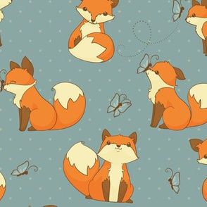 Cute Little Fox Pattern