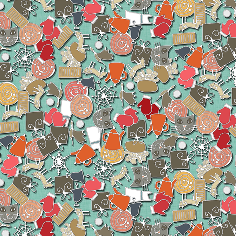 raindrops on roses fabric by scrummy on Spoonflower - custom fabric