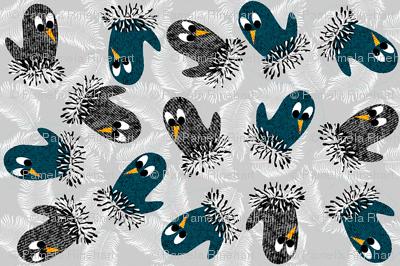 bird mittens = twittens ( blue )