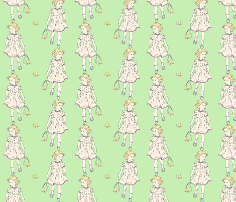 Daffodil Girl fabric by eef_and_ini on Spoonflower - custom fabric