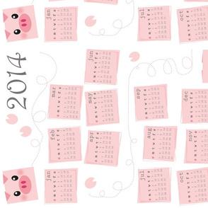 2014 Calendar - Piggy Delight
