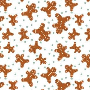 Scattered Gingerbread Men