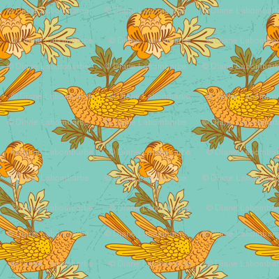 Vintage Birds On Branches