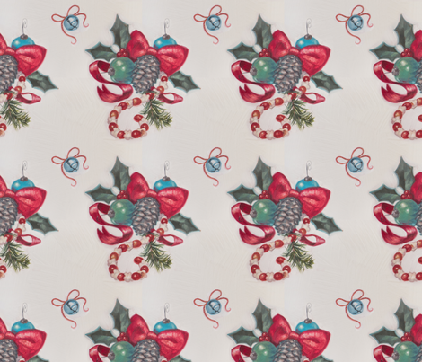 Old Fashioned Christmas fabric by ecrowley on Spoonflower - custom fabric