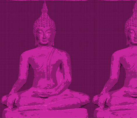 pink_buddha fabric by stephen_trevino on Spoonflower - custom fabric