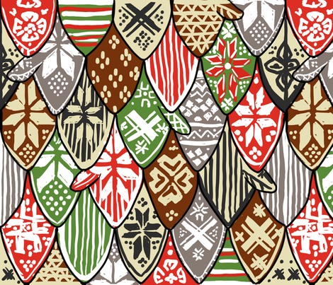 Nordic Mittens fabric by artytypes on Spoonflower - custom fabric