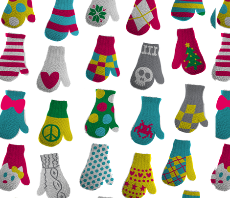 funky mittens fabric by lisahilda on Spoonflower - custom fabric