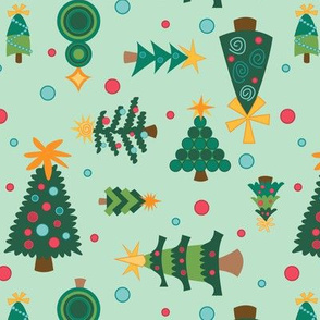Eclectic Christmas Trees