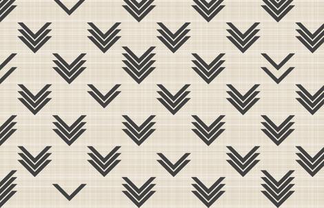 Varied Chevrons on Linen