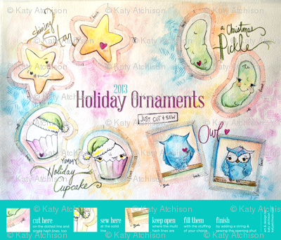 Cute Cut and Sew Ornaments