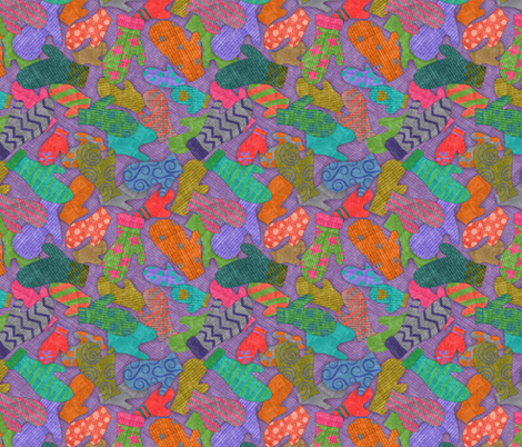 All the mittens I've lost fabric by vo_aka_virginiao on Spoonflower - custom fabric