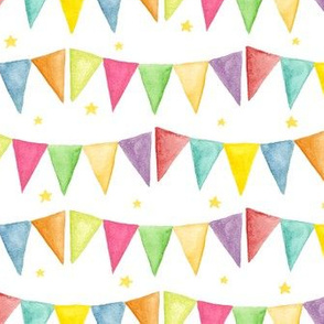 watercolor bunting