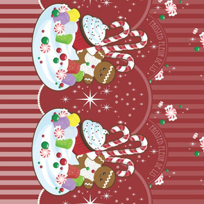 Christmas Fantasy Border Print