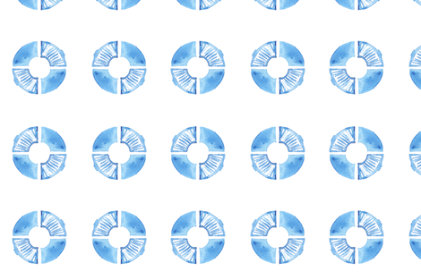 Watercolor Doughnut Wheels fabric by katebutler on Spoonflower - custom fabric