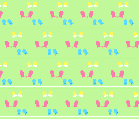 Baby Mittens fabric by rainsontheplain on Spoonflower - custom fabric