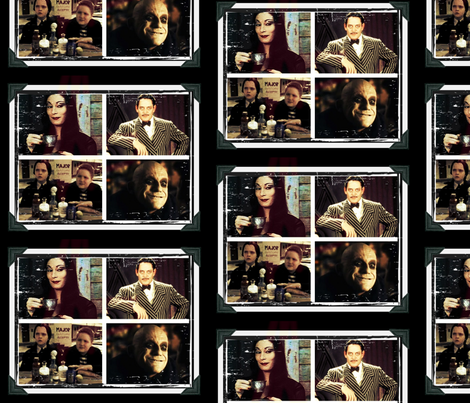 The Addams Family fabric by whitesedge on Spoonflower - custom fabric