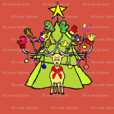 reindeer_christmas1_redbackground1