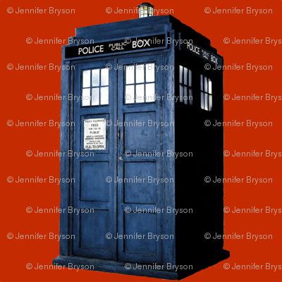 Tardis in Red
