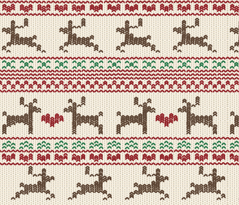 Reindeer Fair Isle fabric by kmsupply on Spoonflower - custom fabric