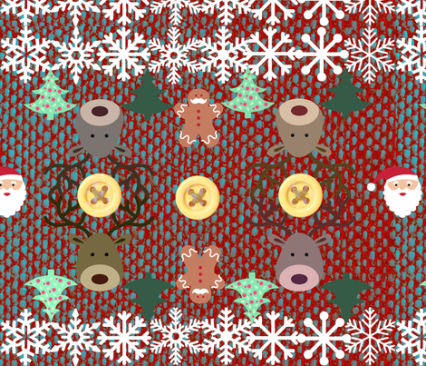 Christmas Knit fabric by tissu-de-jardins on Spoonflower - custom fabric