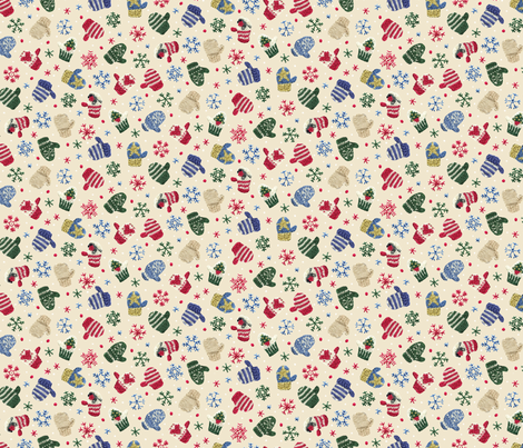 Ditsy Knittens fabric by fizzfab on Spoonflower - custom fabric
