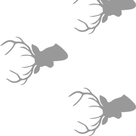 Gray Deer Silhouette 90 deg fabric by mrshervi on Spoonflower - custom fabric