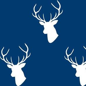 Navy deer silhouettes