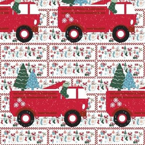 Mitten Party Fire truck  Snow -Small print