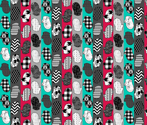 Monochromatic Mittens fabric by pond_ripple on Spoonflower - custom fabric