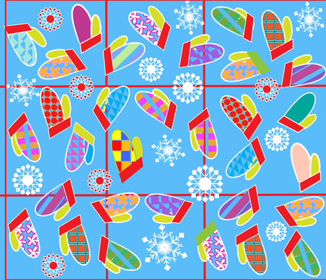 SOOBLOO_MITTENS_THIRTEEN_A-01 fabric by soobloo on Spoonflower - custom fabric