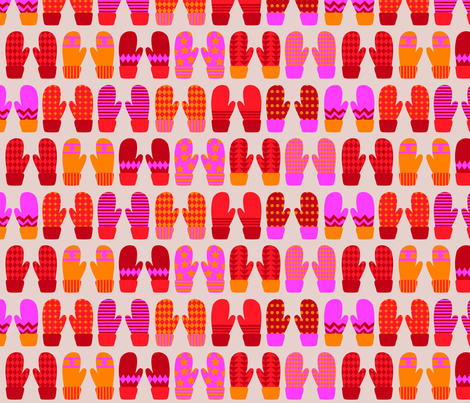 Mittens fabric by oohoo on Spoonflower - custom fabric