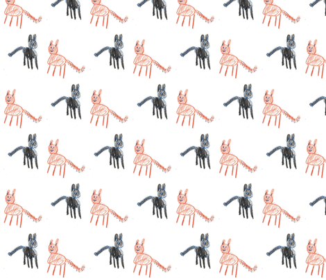 cats fabric by haleyuk on Spoonflower - custom fabric
