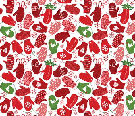 Red Loving Mittens fabric by robinpickens on Spoonflower - custom fabric