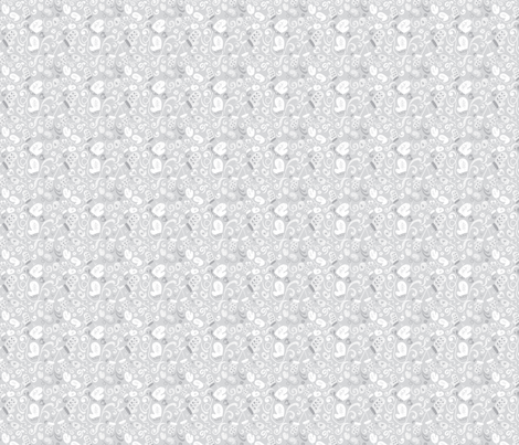Ditsy Mitten Flurries fabric by twoifbyseastudios on Spoonflower - custom fabric