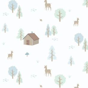 Forest Cabin - Winter