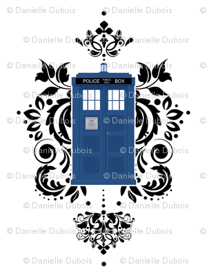 Doctor Who Damask PTN 1
