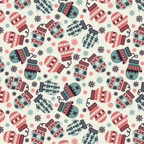 Holiday Mittens fabric by holladaydesigns on Spoonflower - custom fabric