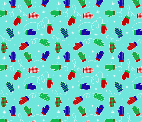 mittens-final fabric by susan4444 on Spoonflower - custom fabric