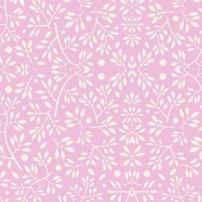 Blenheim stems cream on pink