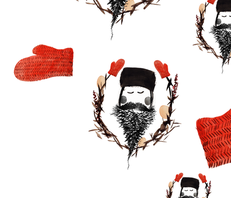 Father Winter fabric by clairejean on Spoonflower - custom fabric