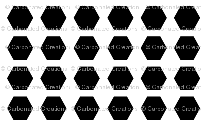 Hexagon Dots Inverted
