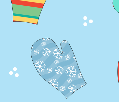 Winter Mittens fabric by debbiek on Spoonflower - custom fabric