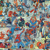 spiderman comic collage
